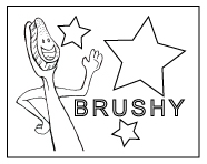 Brushy Coloring Page 1